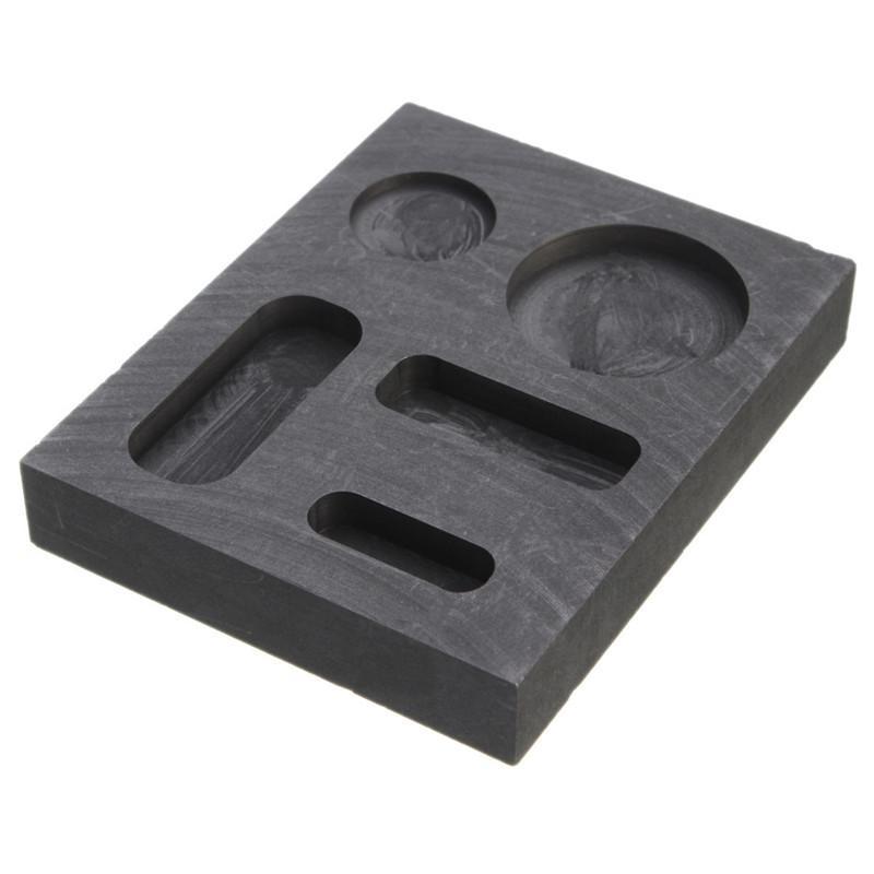1 oz oro crisol grafito lingote barra redondo coin combo fusión de metal moldes de barras de fusión lingote fundición refinación de chatarra