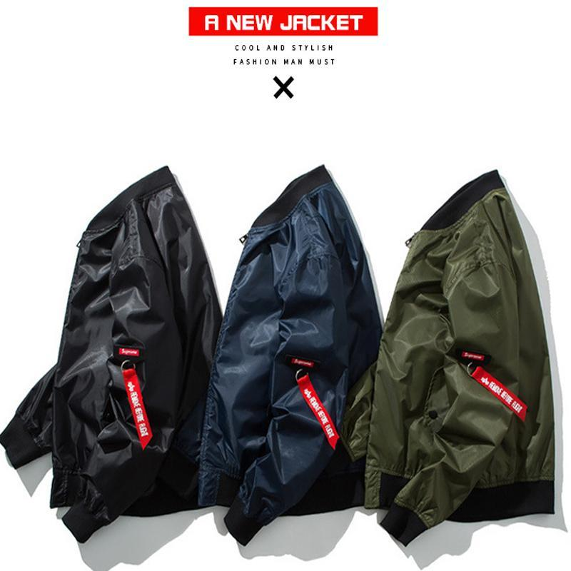 Spring Autumn Jacket Bomber Jacket Coat City Pilot Air Stand Collar Fashion Style Patch Designs Pilot Coat Men Jackets5XL