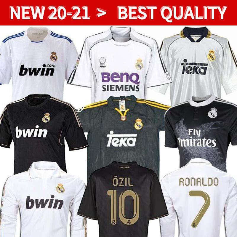 Real Madrid Retro Soccer Jerseys Vintage Klassiker 05 06 Zidane Beckham Ronaldo Carlos Raul Football Jerseys Camisetas Futbol Maillot de Foo