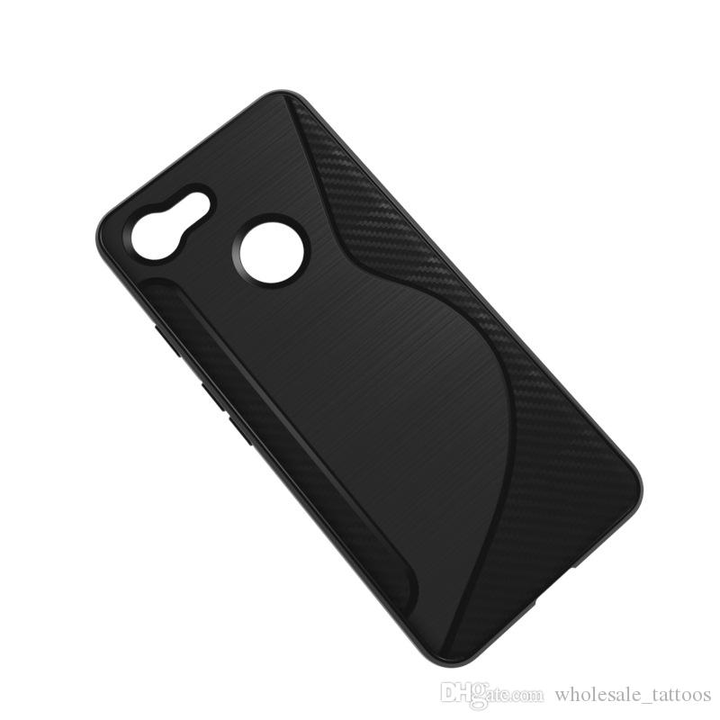 1.3mm NS Line Bumper Soft TPU Silicon Cover Carbon Fiber Armor Phone Cases For Sony Xperia XZ4 Huawei Honor Note 10 Nokia X7 7.1 Plus