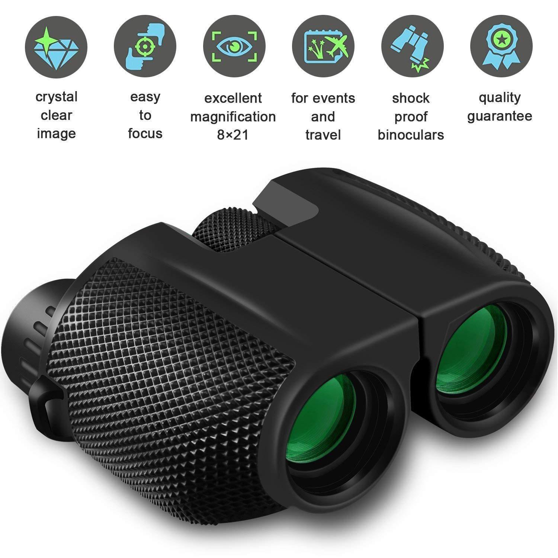 10X25 dürbün HD All-optik Çift Yeşil Film Av Seyahat Spor Trekking Kuş izlemek için su geçirmez dürbün Teleskop