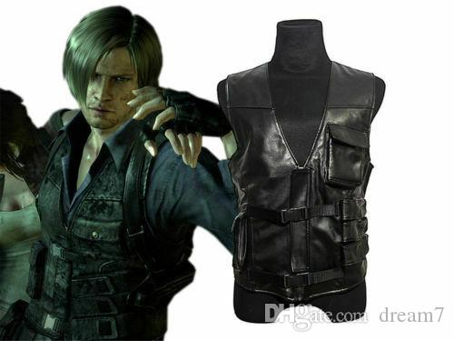 Resident Evil 6 Leon Kennedy Vest Jacket Cosplay Costume Cool