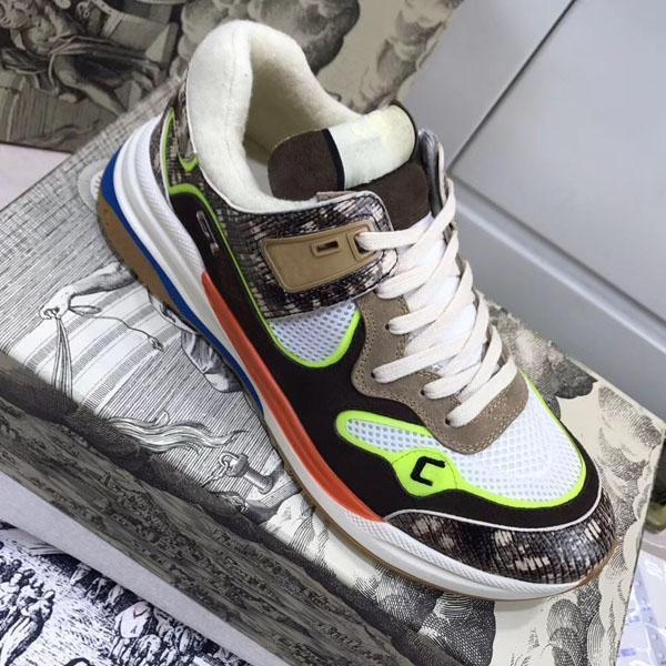 New arrival Fashion shoes for Couple with top quality luxury sneakers lace up Mixed colors Unisex couple size 35-45 with box and dusty bag