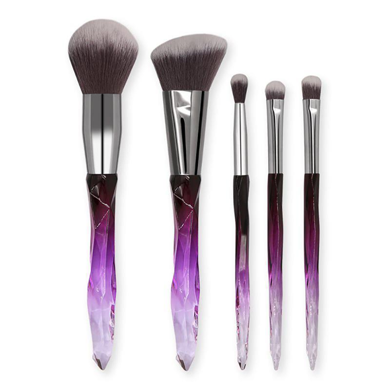 5PCS rautenförmige Ausführung Make-up-Pinsel-Set Foundation Lidschattenpinsel Blending Blush Concealer Bristles Schönheit kosmetisches Werkzeug