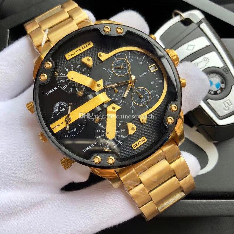 reloj chino, marcación de cristal grande, movimiento de cuarzo de alta calidad, pulsera de acero inoxidable, de varios colores, en pleno funcionamiento, la caja original.