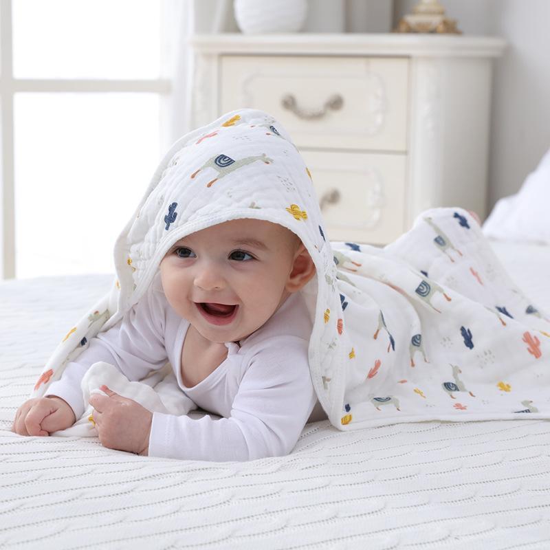 Baby-Quilt Frühling und Herbst Sommer-dünner Abschnitt Baumwollgaze Neugeborene Tasche Quilt-Beutel-Tuch Neugeborenes Baby Supplies