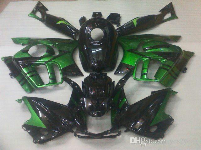 Kit carrosserie carénage noir vert pour HONDA CBR600F3 97 98 CBR 600 F3 1997 1998 CBR600 F3 CBR 600F3 Carrosserie