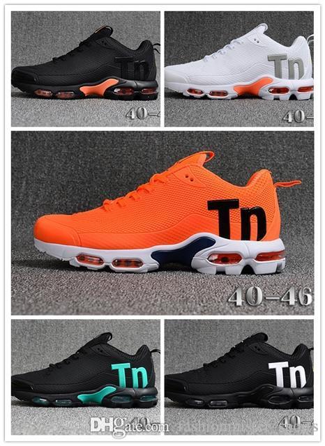 Nike Air Max Tn 2019 New Mercurial Tn Plus 2 Homme Chaussures de course Chaussures KPU Noir Blanc Orange Chaussures Hommes Baskets Sneakers extérieur TN Taille 40-46 FA12