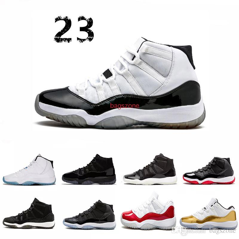 """""""45"""" High Quality 11 Spaces Jams Basketball Shoes low Bred Concord Gamma Blue Men Women shoes 72-10 Gym Red Sneakers"""