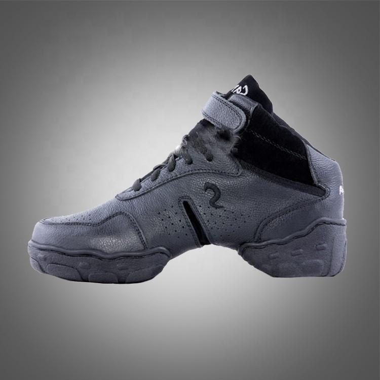 Free shipping B52H split leather sole high heel dance sneaker shoes men hip hop dance shoes