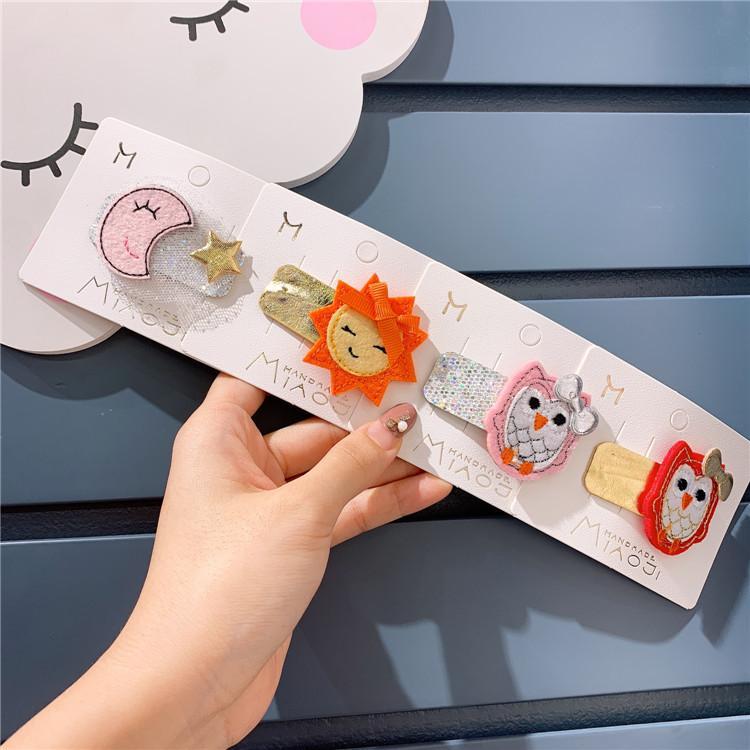 Belle mignon Accessoires cheveux enfants coréens Ins Rainbow Star Sun Moon fille Cartoon cheveux clip animal mignon bébé Clip latéral