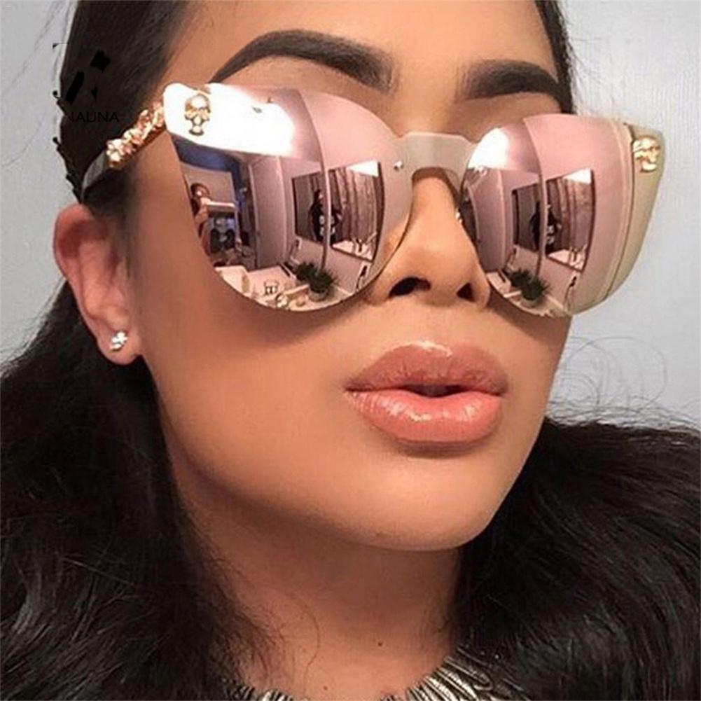 2018 Hot Personality Trend Gimmick Sonnenbrille Marke Designer Damen-Sonnenbrillen Legierung Spiegel-Sonnenbrille weiblicher oculos de sol