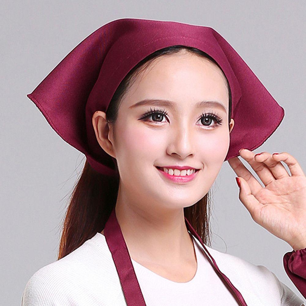 1pc Cooking Chef ajustable del sombrero de los hombres de la cocina del panadero sombrero elástico Catering Cocinar gorra de rayas llanas sombreros de Trabajo Cap FDH