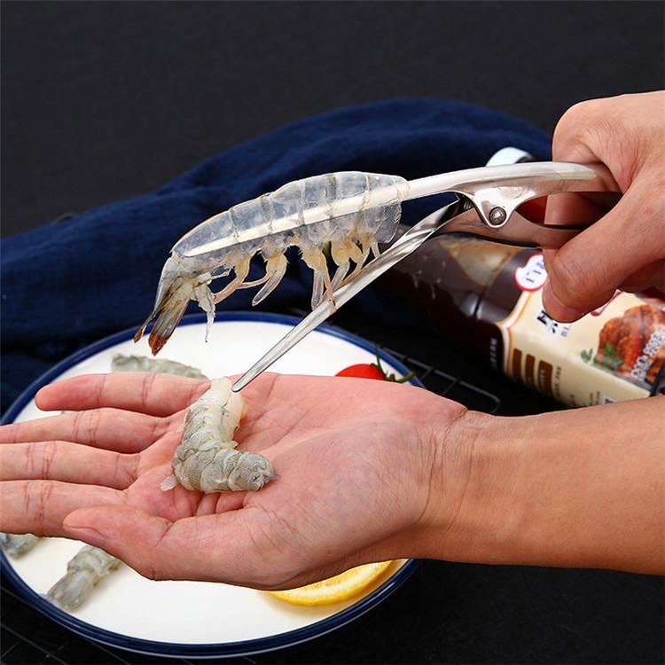 Multi funcional camarão aço inoxidável Ferramentas Peeler camarão Peeler Seafood Lobster Shell Removedor de cozinha de alta qualidade