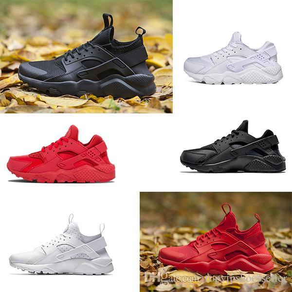 Nike Air Huarache 1.0 4.0 men shoes ultra koşu ayakkabıları erkekler kadınlar için üçlü siyah beyaz kırmızı nefes erkek eğitmen moda spor sneakers koşucu boyutu 36-45