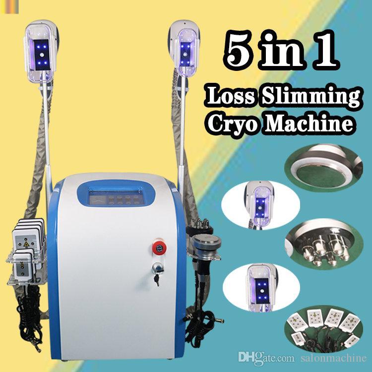 2019 professionelle Cryolipolysis Ultraschall RF Fettabsaugung Lipo Laser Gewichtsverlust Fett Einfrieren Schlankheits-Maschine CE / DHL