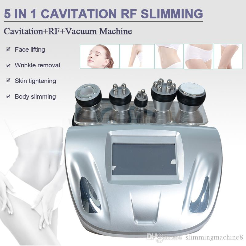 Новый 5 в 1 ультразвуковой кавитации RF вакуума радиочастоты уменьшая удаление целлюлита машины потери веса