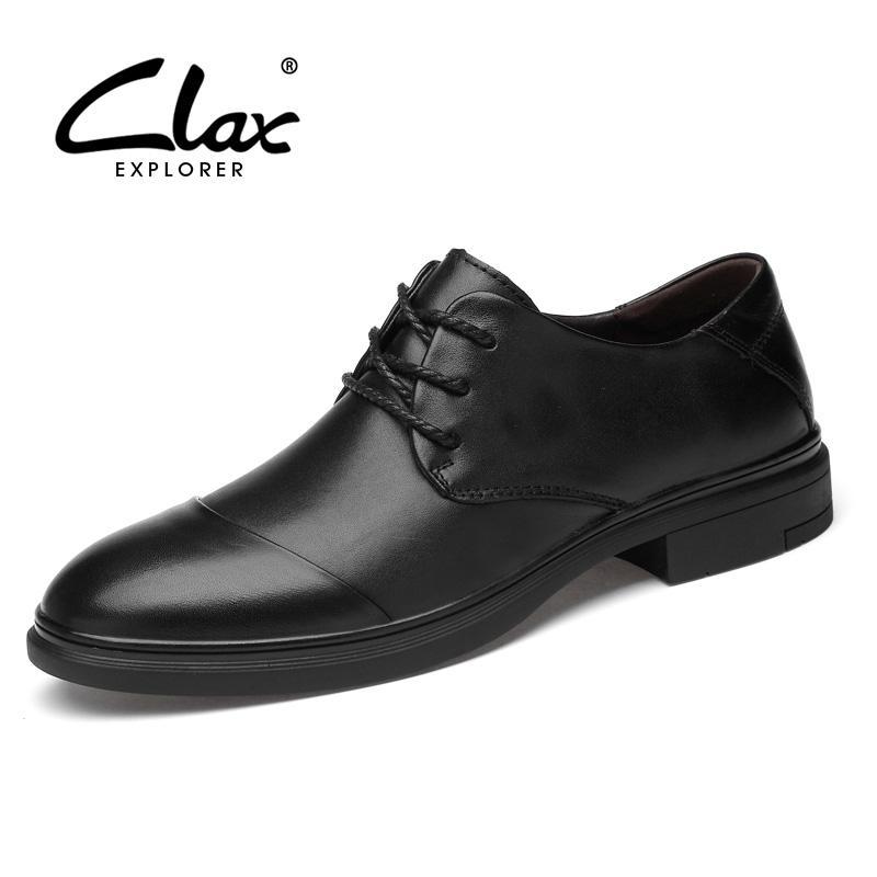 CLAX Adam Resmi Ayakkabı Hakiki Deri Erkek Derby Ayakkabı Erkek Elbise Ayakkabı Oxfords Düğün Ayakkabı sosyal Büyük Boy