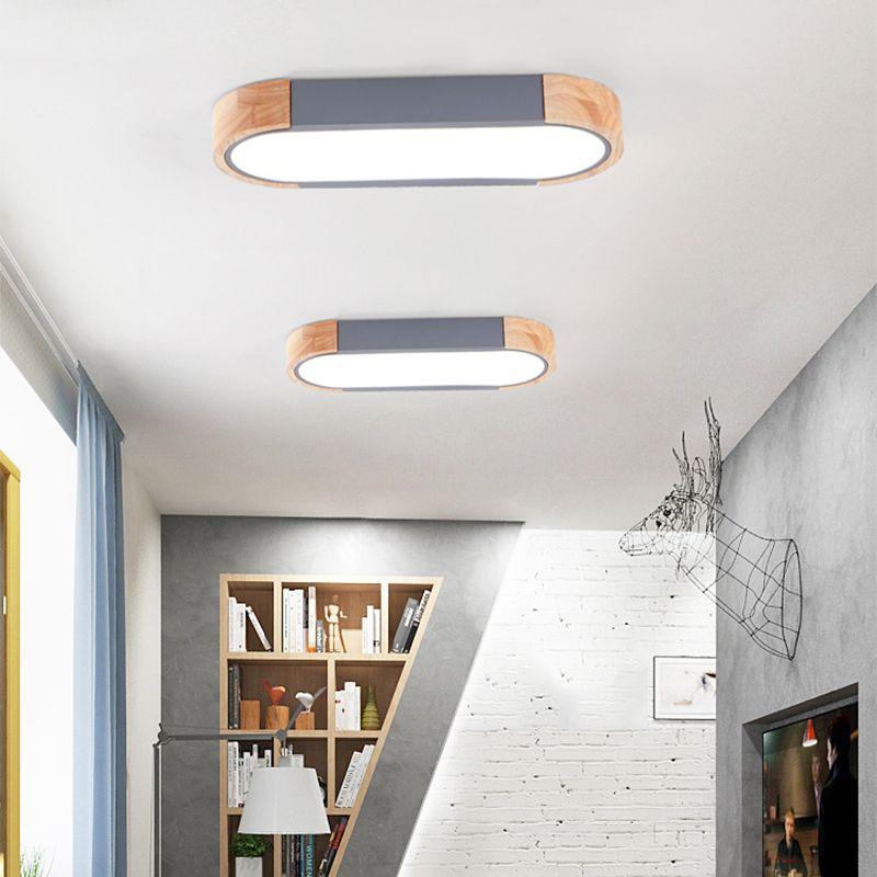 مصابيح الشمال معكرون خشبي سقف بقيادة لدراسة غرفة الممر مطبخ مستطيل اللون السقف مصباح حديد الشمال RW267 اليابانية