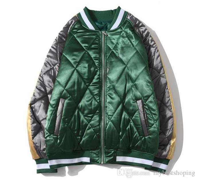 New Jacket Chegada Mens Designer Casaco de Inverno Mens alta qualidade luxo Jacket Casacos Mens Inverno azul verde M-2XL