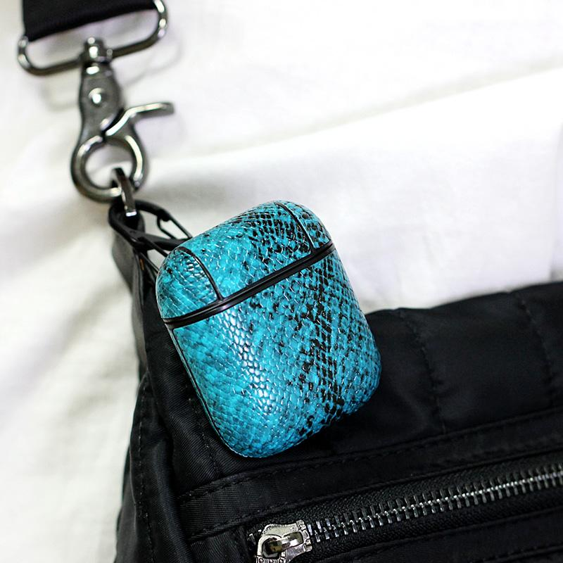 ZZYD Cuir Airpods Cas PU Protector Cover Mode Anti Perdu Crochet Fermoir Porte-clés pour Apple Air pods Airpod Cas de Téléphone Portable