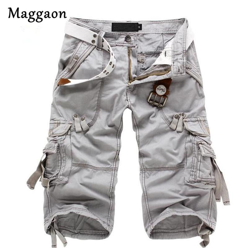 8 Colors Plus Size 29-40 New Brand Summer Camouflage Loose Cargo Shorts Men Camo Summer Short Pants Homme Cargo Shorts NO