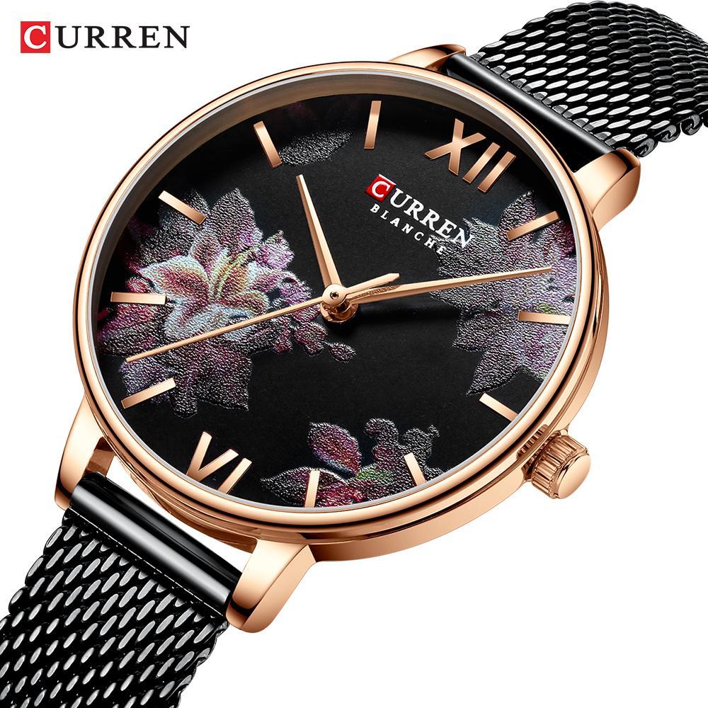 Frau Uhren Marke Luxus-Uhr-Frauen-Rose Gold-Quarz-wasserdicht Frauen-Armbanduhr Frauen Waterproff Uhren für Mädchen