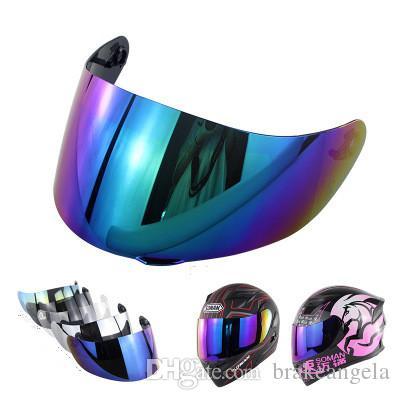 1 peças de vidro para K3 SV K5 motocicleta capacete anti-riscos de substituição rosto cheio escudo viseira não para agv k3 k4 capacetes