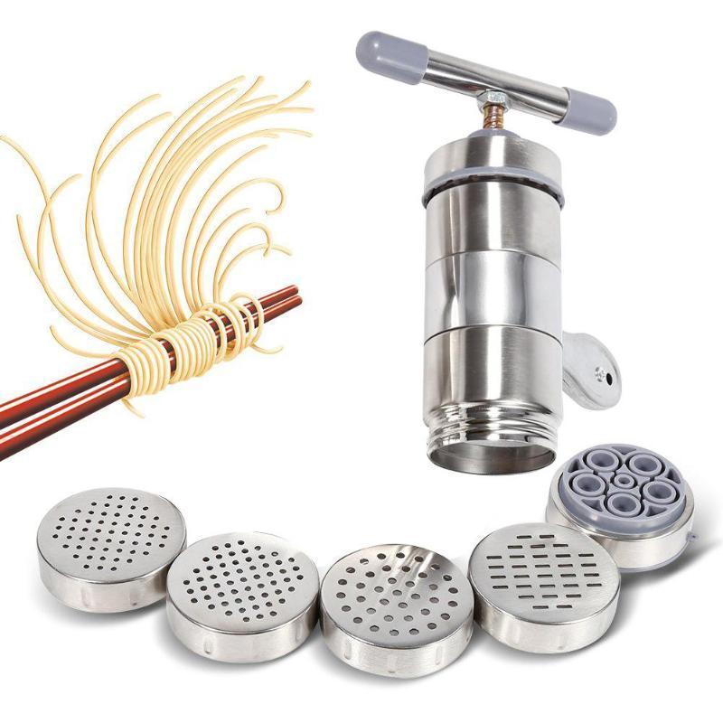 Manuelle Edelstahl Noodle Maker Press Nudelrädchen Küche Nudelherstellung Werkzeugmaschinen-Kochen