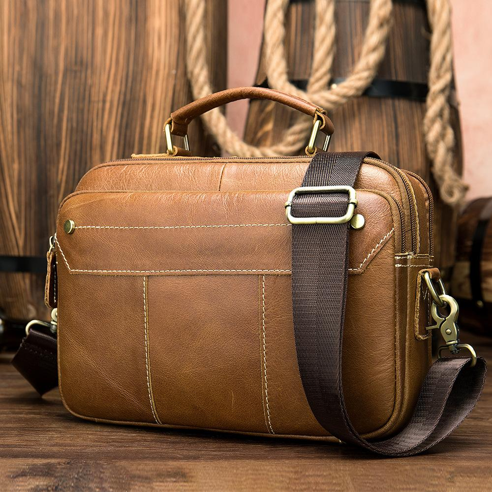 Business Men Briefcase Bag Leather Laptop Bags Casual Shoulder Fashion Business