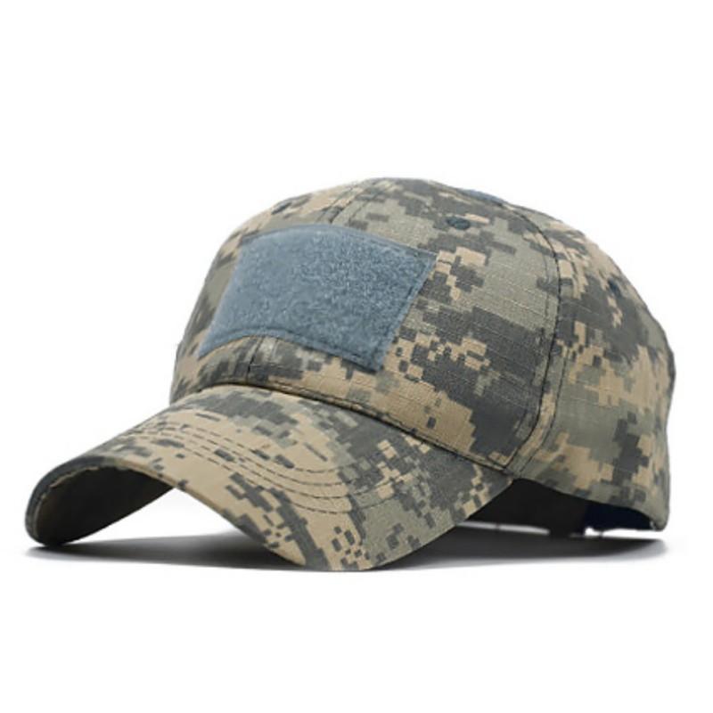 Baseball Cap simple Pare-soleil réglable Snapback Chapeaux Couvre-chef Vêtements de chasse Sports de plein air pour adultes Hommes