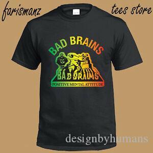 Новый Bad Brains Positive Mental Attitude Logo Mens Black T Shirt Размер S до 3XL