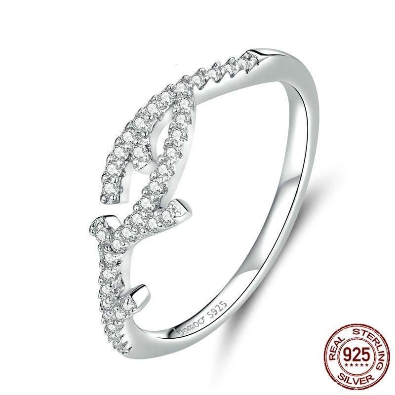 Joyería de la boda Branch Borrar CZ anillos de dedo para Mujeres Declaración de compromiso de plata esterlina 925 Bijoux BSR089