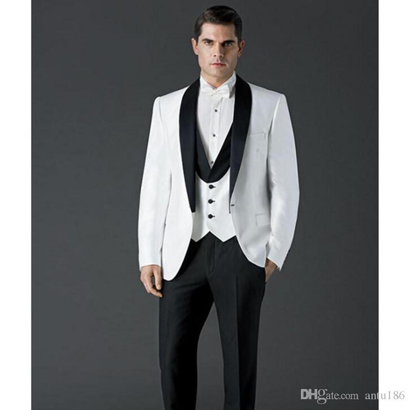 Erkek moda mizaç takım üç parçalı takım elbise (ceket + pantolon + yelek) düğün damat sağdıç elbise erkek iş ofis resmi suit