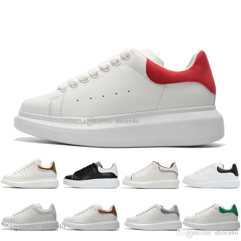 2019 Marca plataforma de moda de luxo dos homens casuais e sapatos de skate das mulheres das sapatilhas saltos brilhantes vestido sapatos sapatas de tênis