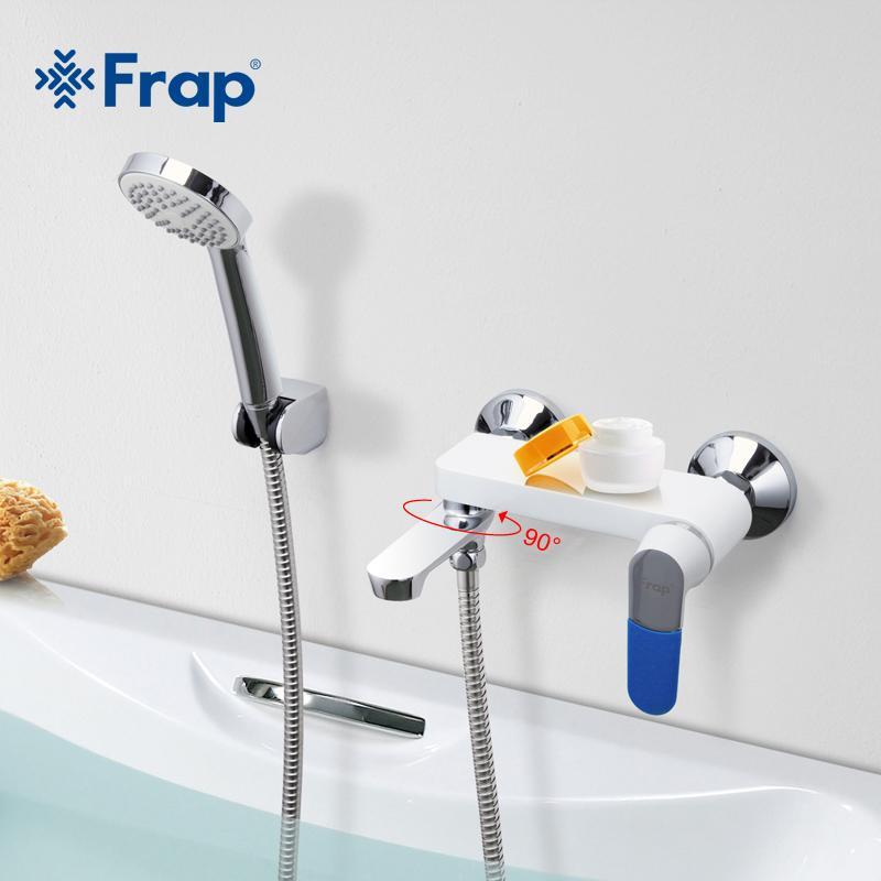 gros robinet de bain mural froide et eau chaude Mélangeur Rotatif Robinet 5 couleurs Poignée de couverture Choix En tant que F3234 Présent