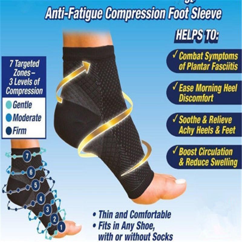 Fuß Engel Antiermüdungs Kompression Fuß Hülse Knöchelstütze Laufzyklus Basketball Sportsocken Outdoor-Männer Knöchel-Klammer-Socken-DC055