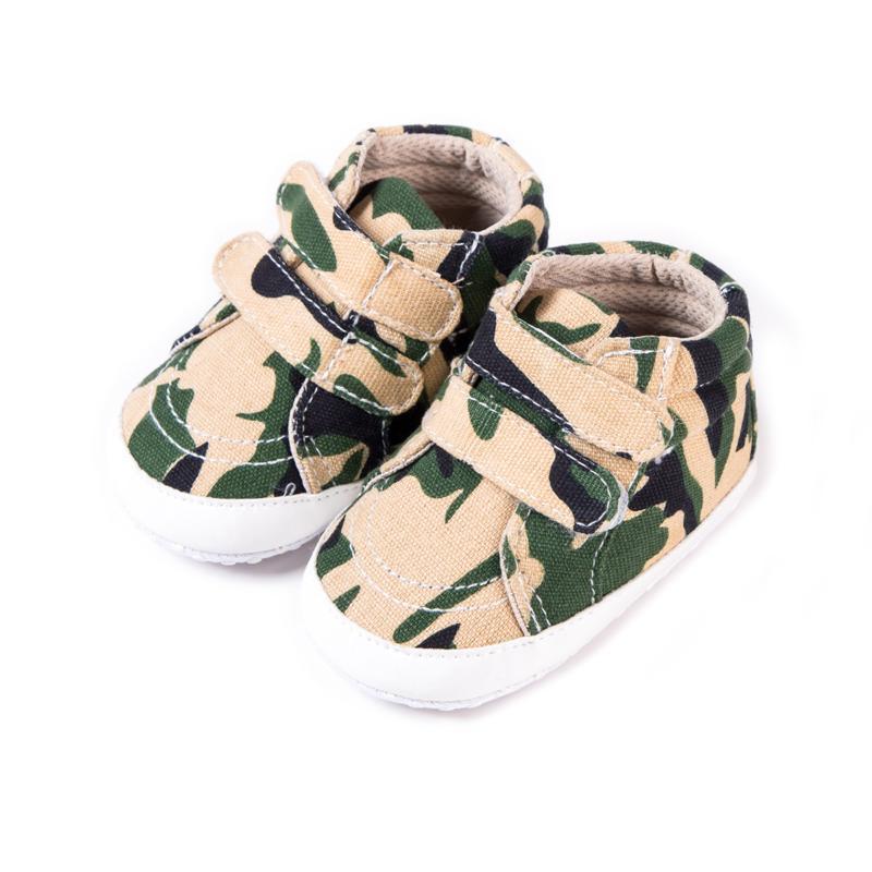 Breathable Baby-Freizeitschuhe Unisex Infant Camouflage Muster-beiläufige weiche Sohle Prewalker Kleinkinder Anti-Rutsch-Schuhe
