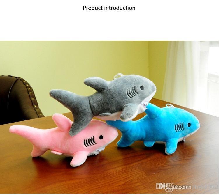 Brinquedos de pelúcia tubarão misturado com bonecos de corrente chave de 18 cm bonecos de pelúcia recheado; tubarão pingente de pelúcia brinca presentes do ramalhete do casamento