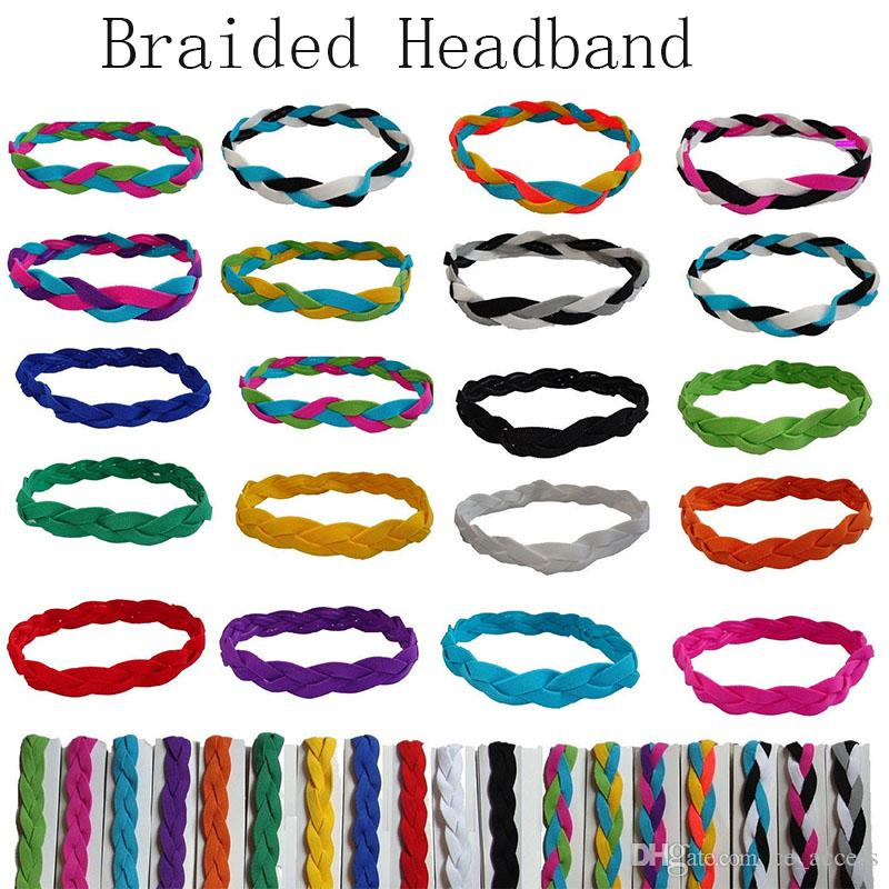 Braided Headband Non Slip Style Sweaty Head Sports Thick Hair Bands