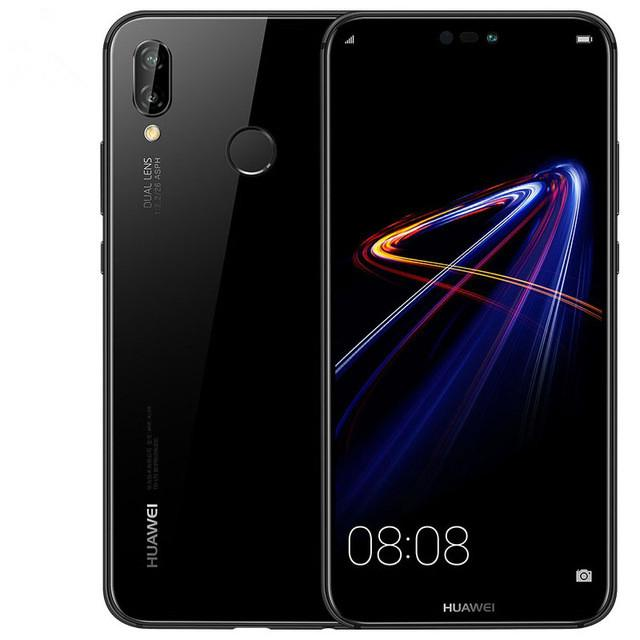 Original Huawei Nova 3e 4G LTE Cell Phone 128GB 64GB ROM 4GB RAM Kirin 659 Octa Core Android 5.8 inch 24MP Fingerprint ID Face Mobile Phone