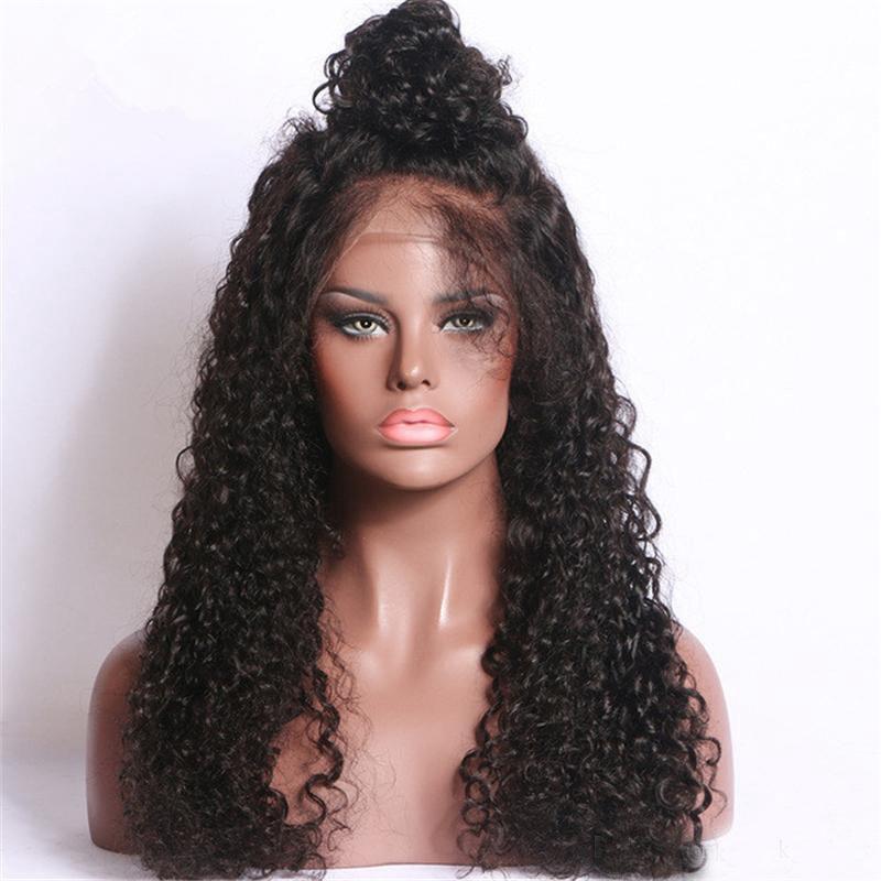 Frete Grátis Medium Brown 6 # Longo Kinky Curly rendas frente Wigs Calor Glueless resistente sintética rendas frente Wigs da Mulher Negra