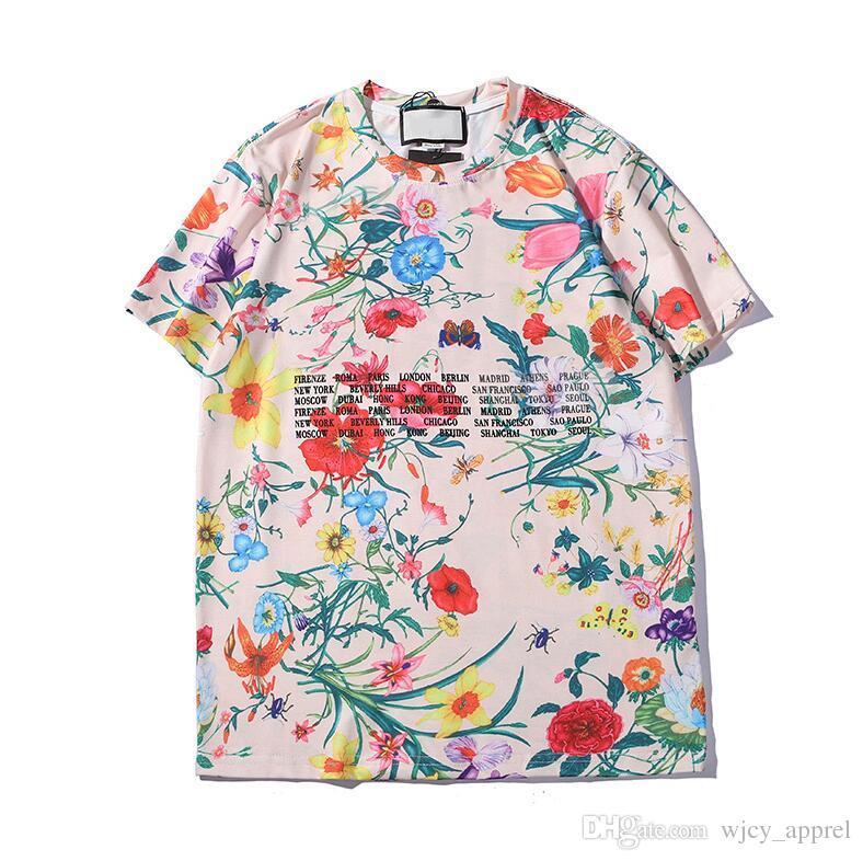 Летние мужские женские футболки марки дизайнер футболки с буквами дышащие с коротким рукавом мужские топы с цветами футболки оптом