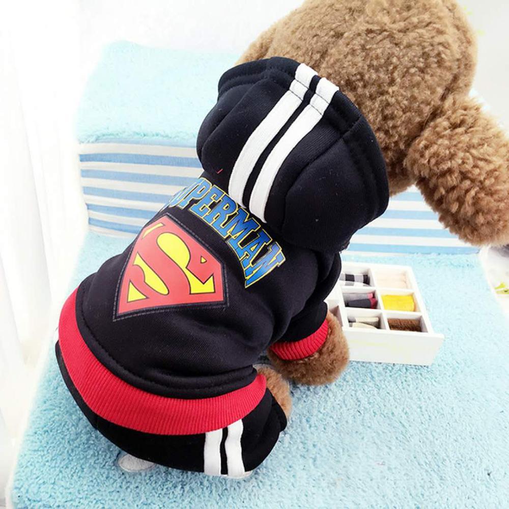 4 Legs Dog Pet Superman Batman Pet Dog Cat Hoodie Sweater For Bulldog Puppy Autumn Winter Warm dog clothes