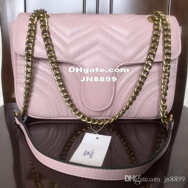 Vendita calda di alta qualità da donna borse a tracolla firmate borsa a catena in pelle cross body pure color borsa da donna borsa a tracolla