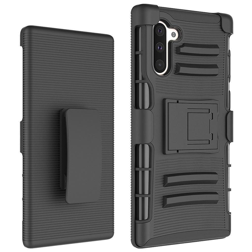 Caso resistente híbrido protectora para Samsung Galaxy A5 A7 2018 Nota 8 9 10 Pro A10E A20e prueba de golpes cubierta clip de la correa de la pistolera