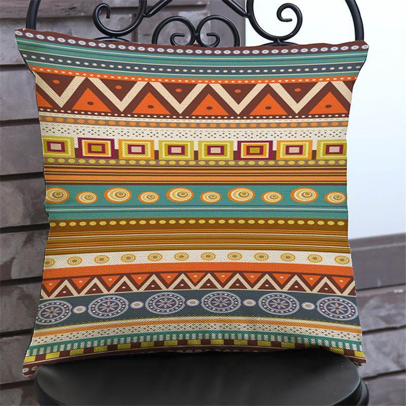 Estilo bohemio patrón geométrico funda de cojín decoración para el hogar casa sofá silla asiento funda de almohada amigo presente regalo