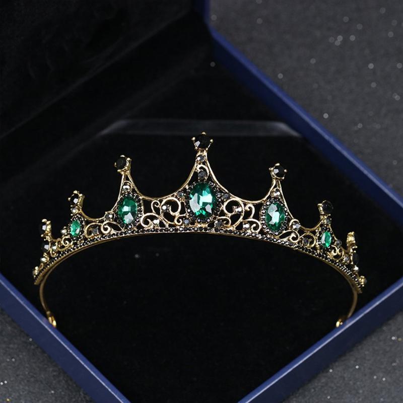 Bride Wedding Queen Crowns Bridal Hair Accessories for Women Retro Rhinestone Crown Bridal Wedding Jewelry New