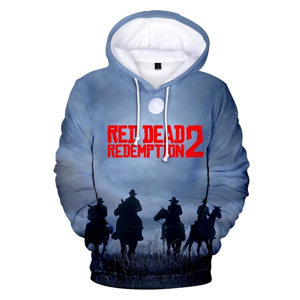 높은 품질 RED DEAD 상환이 개 어린이 디자이너 의류 소년 남성 여성 캐주얼 3D 후드 스웨트 셔츠