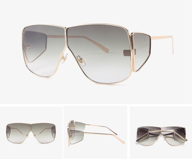 2020 di Sun delle donne nuovi occhiali da sole Vintage Occhiali Femminile Eyewear Occhiali da vista in metallo Lenti incolori UV400 Ombra moda di guida